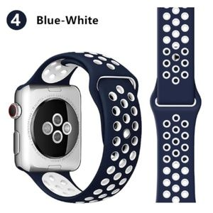 NEW[BAND] NavyWhite Sport Silicone For Apple Watch